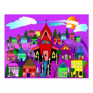 "Catholic Nuns Art ""Heading to Church"" Post Cards"