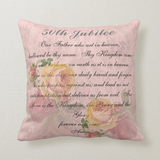 Catholic Nuns Golden 50th Jubilee Pillow