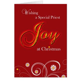 Catholic Priest, Joy at Christmas Card