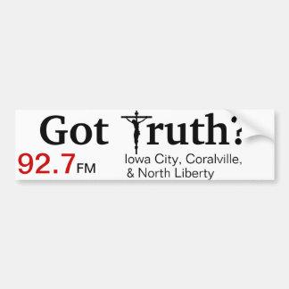 Catholic Radio Bumper Sticker (Iowa City)