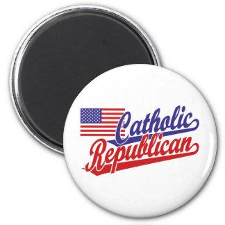 Catholic Republican Fridge Magnet