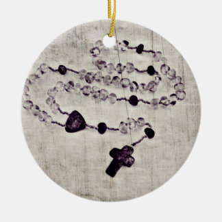 Catholic Rosary | Round Ceramic Decoration
