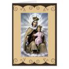 Catholic Saint Greeting card Our Lady of Mt.Carmel