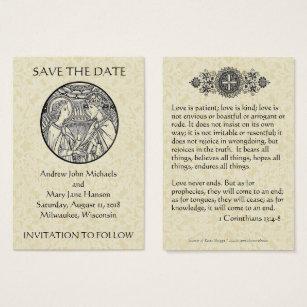 Catholic business cards business card printing zazzle uk catholic save the date wedding cards colourmoves