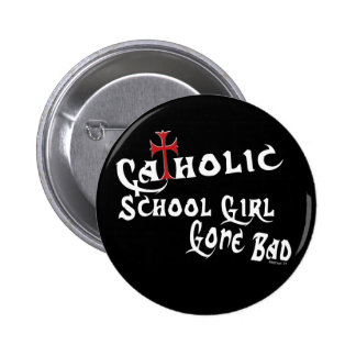 Catholic School Girl B Button