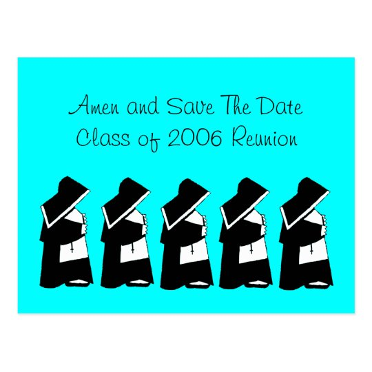 Catholic School Reunion Save The Date Nun Custom