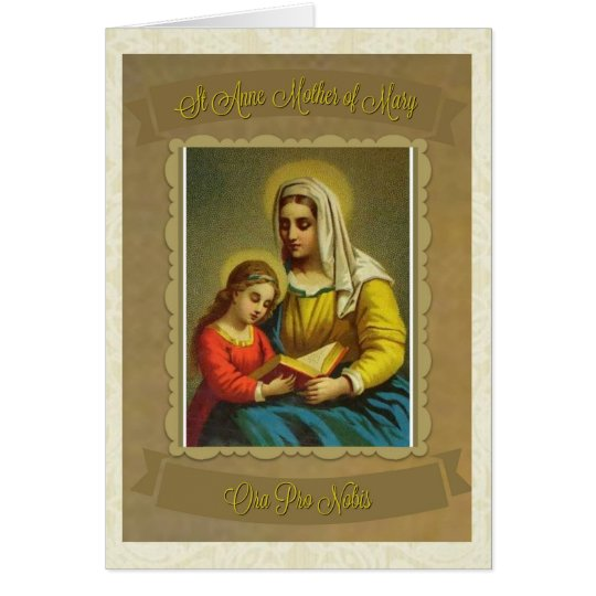 Catholic St. Anne Mother of Mary Note Card