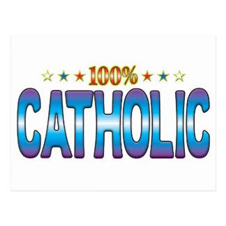 Catholic Star Tag v2 Postcard
