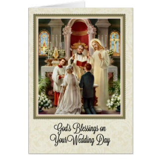 Catholic Wedding Card w/scripture verse