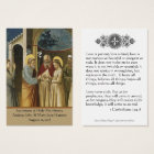 Catholic Wedding Prayer Favour Holy Card