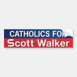Catholics for Scott Walker Bumper Stickers