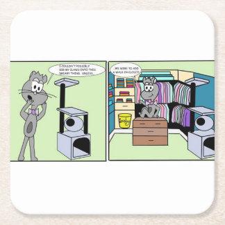 Cathouse Closet Square Paper Coaster