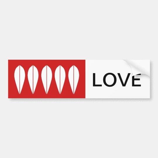 Cathrineholm vintage bumbersticker-LOVE Bumper Sticker