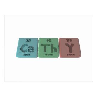 Cathy as Calcium Thorium Yttrium Post Cards