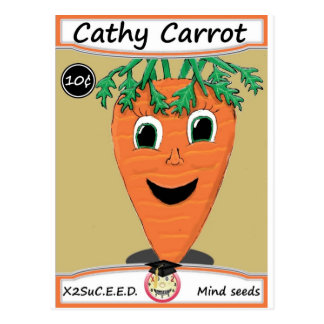 Cathy Carrot Seed Packet 1 Postcard