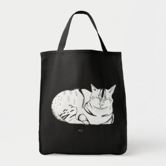 Caticature Grocery Tote Bag