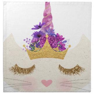 Caticorn,  Cat Unicorn kitty princess Napkin
