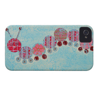 Catipillar Abstract Painting iPhone 4 Cover
