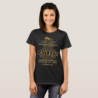 Catleesi Mother of Cats T-Shirt For Cat Lovers