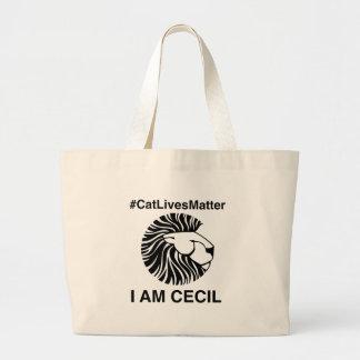 #CatLivesMatter Plain Tote Bag. Jumbo Tote Bag