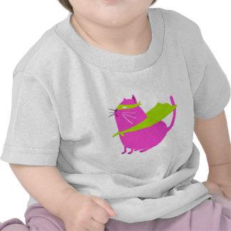 Catman Pink T Shirts