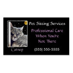 Catnap Pet Sitting Business Profile Card Template