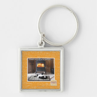 Catnuts roasting Silver-Colored square key ring