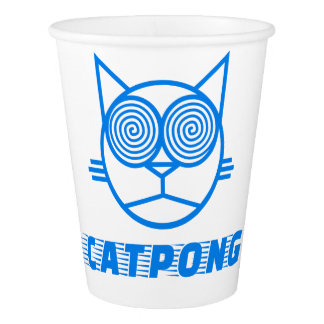 Catpong (Blue) Paper Cup