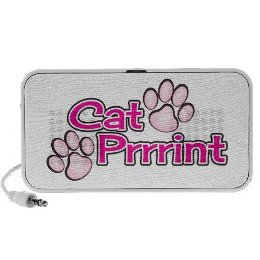 Catprint logo notebook speakers