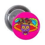 Catrina Sugar Skull Button