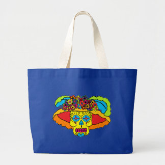 Catrina Sugar Skull Large Tote Bag