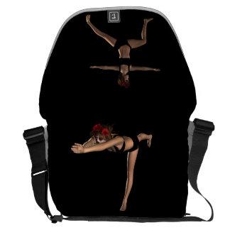 Catrina Wariror I & 2 Yoga Poses - Bag Messenger Bag