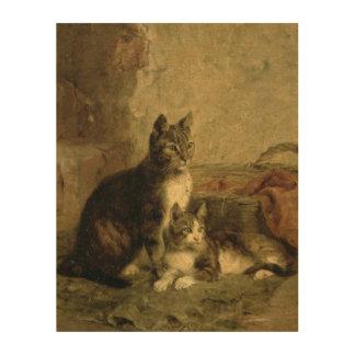 Cats, 1883 wood canvas