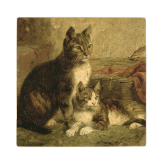 Cats, 1883 wood coaster