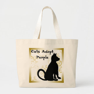 Cats Adopt People Cat Bag CricketDiane
