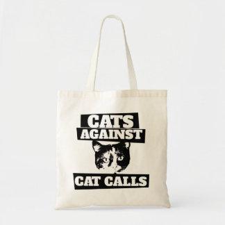 Cats against cat calls budget tote bag