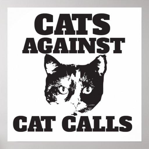 Cats against cat calls print
