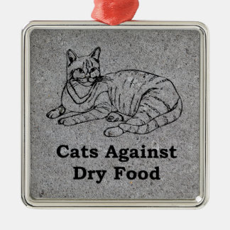 Cats Against Dry Food Christmas Ornament