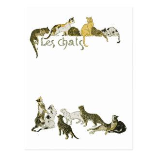 Cats, Alexandre Steinlen Postcard
