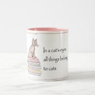 Cats - All things belong Two-Tone Coffee Mug