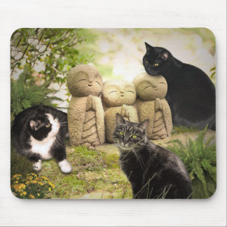 Cats and Angels Mouse Pads