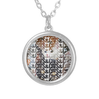 Cats and Cats and Round Pendant Necklace