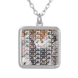 Cats and Cats and Square Pendant Necklace