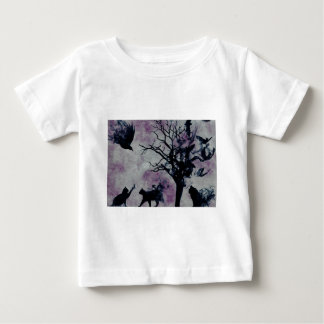 Cats and Crows Baby T-Shirt