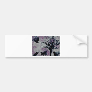 Cats and Crows Bumper Sticker