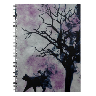 Cats and Crows Spiral Notebook