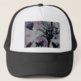 Cats and Crows Trucker Hat