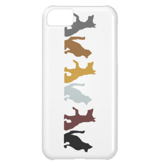 Cats and Dogs cartoon pattern iPhone 5C Cover