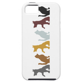Cats and Dogs cartoon pattern iPhone 5 Case