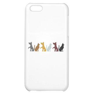 Cats and Dogs cartoon pattern Cover For iPhone 5C